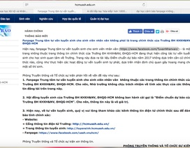 Fanpage đăng thông tin thiếu chính xác về trường ĐH KHXH & NV TPHCM