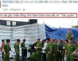 """Công an Nam Định nói về thông tin """"thảm sát 8 người chết"""""""
