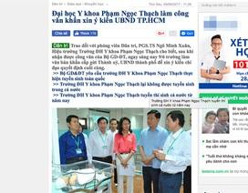 Yêu cầu Trường ĐH Y khoa Phạm Ngọc Thạch kiểm điểm làm rõ trách nhiệm về đề án tuyển sinh
