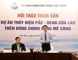 Lo lắng thuỷ điện Pắc-Beng ở Lào ảnh hưởng xấu tới ĐBSCL