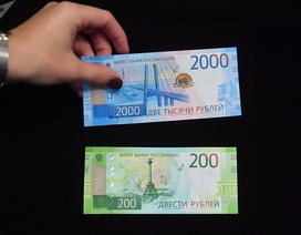 """Nga """"trình làng"""" tiền mới có biểu tượng của Crimea"""