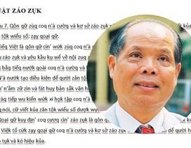 """Tổng Thư kí Hội Ngôn ngữ học VN: """"Khoan vội… ném đá đề xuất Tiếq Việt"""""""