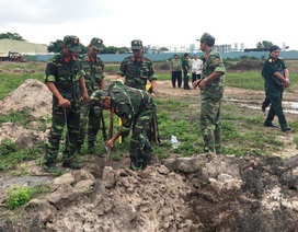 Khảo sát mộ liệt sĩ tại Tân Sơn Nhất: Phát hiện một số di vật