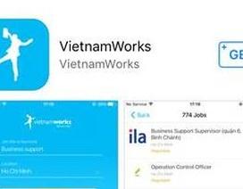 Vietnamworks ra mắt ứng dụng tìm việc trên smartphone