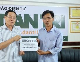 Hơn 60 triệu đồng đến với em Lê Quang Thành bị tai nạn giao thông