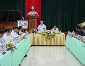 Tổng Bí thư làm việc với cán bộ chủ chốt tỉnh Quảng Trị