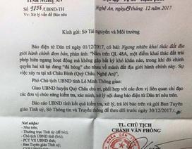 UBND tỉnh Nghệ An chỉ đạo xử lý vụ khai thác đất địa giới hành chính đem bán!