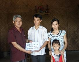 Trao gần 25 triệu đồng đến gia đình anh Từ Công Duy