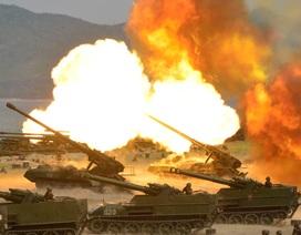Triều Tiên công bố video tập trận pháo binh lớn chưa từng có
