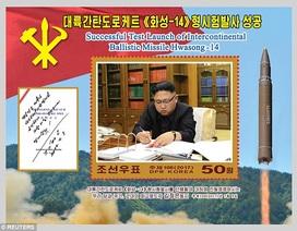 Triều Tiên phát hành bộ tem đặc biệt mừng phóng tên lửa thành công