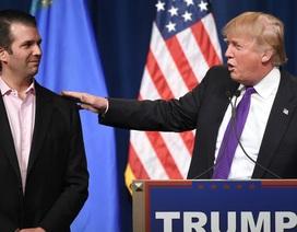 Con trai ông Trump cung cấp thông tin mâu thuẫn về vụ gặp luật sư Nga