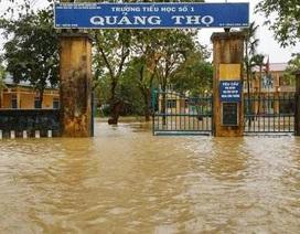 Thừa Thiên Huế tiếp tục cho học sinh nghỉ học vì lũ lên cao