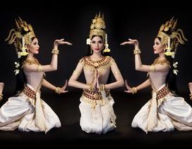 Trương Thị May lộ eo thon nuột nà trong điệu múa mừng tết Khmer