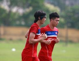 Tuấn Anh háo hức tập luyện ngày đầu lên tuyển U23 Việt Nam