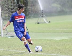 Tuấn Anh trở lại tập luyện, HLV Nguyễn Hữu Thắng thở phào