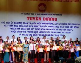 Đà Nẵng vinh danh 40 Chủ tịch UBMTTQ và trưởng ban công tác mặt trận tiêu biểu