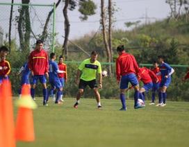 U20 Việt Nam tập kín chờ đấu U20 New Zealand
