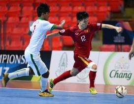 U20 futsal Việt Nam hoà đáng tiếc trước Indonesia tại giải châu Á 2017