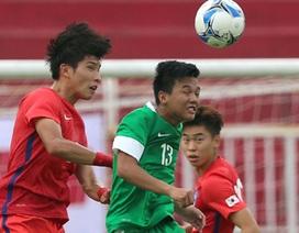 U22 Hàn Quốc đại thắng 10-0 ở vòng loại U23 châu Á tại Thống Nhất