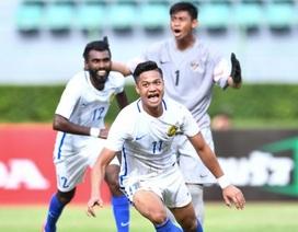 Malaysia bất ngờ thắng đậm Indonesia tại vòng loại U23 châu Á