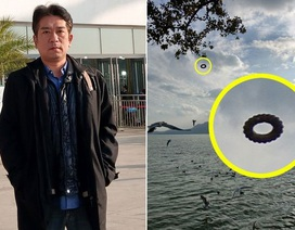 """Du khách chụp được một chiếc UFO hình """"bánh vòng"""" bí ẩn"""