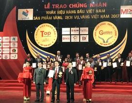 """Grobest Việt Nam lọt Top 10 """"Nhãn hiệu hàng đầu - Sản phẩm vàng Việt Nam năm 2017"""""""