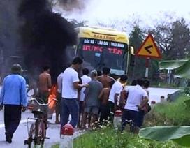 Bình gas phát nổ khi va chạm giao thông, người phụ nữ bị bỏng nặng