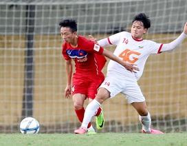 Tuấn Anh đá chính, U23 Việt Nam hoà thất vọng trước đội hạng Nhất