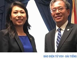 Đại sứ Phạm Quang Vinh gặp nữ Nghị sỹ người Việt tại Quốc hội Mỹ