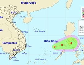 Xuất hiện vùng áp thấp trên Biển Đông