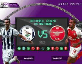West Brom - Arsenal: Trong cơn khát điểm