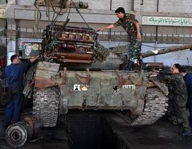 """Cận cảnh nơi """"hồi sinh"""" xe tăng cho các trận chiến ở Syria"""