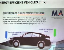 """Malaysia đặt mục tiêu 100% ô tô bán ra là xe """"xanh"""""""