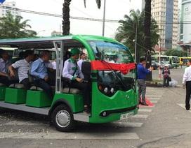 TPHCM: Xe buýt điện hút khách dịp Tết