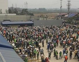 Công nhân xây dựng nhà máy Samsung xô xát