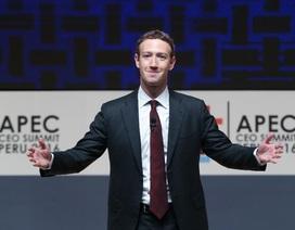 Mark Zuckerberg kiếm 5 tỷ USD chỉ trong 2 tuần đầu 2017