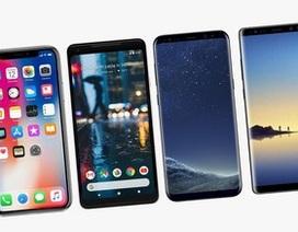 """""""Nhờ"""" iPhone X và Galaxy Note8, giá smartphone trung bình trong năm 2017 cao kỷ lục"""