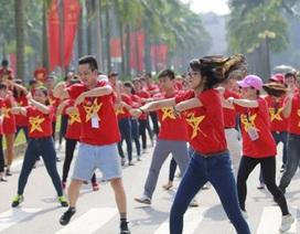 Hà Nội nhảy flashmob tiếp lửa U23 Việt Nam trước thềm chung kết