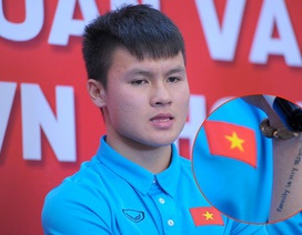 Hình xăm trên cánh tay của tuyển thủ U23 Quang Hải thể hiện điều gì?