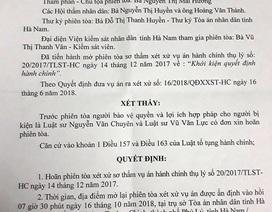 Người dân khởi kiện UBND huyện Thanh Liêm: Tiếp tục hoãn phiên tòa lần 4!