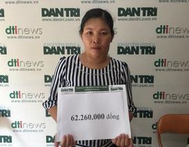 Hơn 62 triệu đồng đến với chị Phượng bị ung thư vòm họng