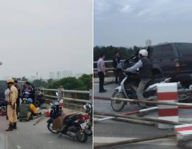 Xe biển xanh húc dải phân cách, tông 2 xe máy khiến 1 người bị thương