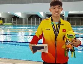 """""""Kình ngư"""" Huy Hoàng giành huy chương vàng Olympic trẻ 2018"""