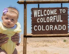 Bé gái 5 tháng tuổi du lịch gần 50 bang nước Mỹ