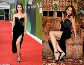 Cựu Bond girl quyến rũ với váy xẻ bạo