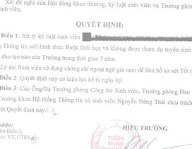 Giả mạo chứng chỉ ngoại ngữ, sinh viên bị buộc thôi học và cấm dự tuyển 5 năm