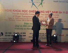 Tặng kỷ niệm chương vì sức khỏe nhân dân người hiến tạng cứu 6 người