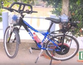 Người đàn ông ở miền Tây chế tạo thành công xe đạp máy từ máy cắt cỏ cũ