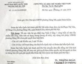 Đoàn đại biểu Quốc hội TP Hà Nội đề nghị Chủ tịch phường Hàng Mã giải quyết đơn thư công dân