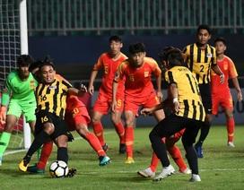 Thua U19 Trung Quốc, U19 Malaysia chấp nhận bị loại tại giải châu Á